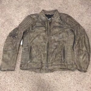 Brown HD soft leather jacket